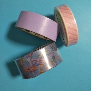 マスキングテープ パープル&ピンク系 (おまけ付き)(印刷物)
