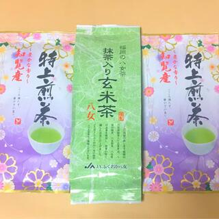 知覧茶×2袋◆八女茶抹茶入り玄米茶×1袋(茶)
