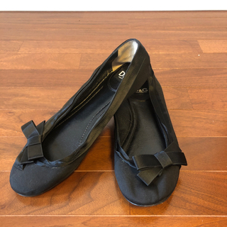D&G - D&G バレエシューズ 黒 サテンリボン イタリアサイズ37