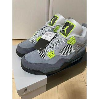 Nike Air Jordan 4 Retro SE neon 28.0cm(スニーカー)