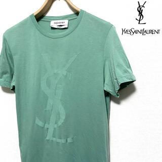 イヴサンローランボーテ(Yves Saint Laurent Beaute)のYVES SAINT LAURENT☆YSLロゴTシャツ☆グリーン☆イタリア製☆(Tシャツ(半袖/袖なし))