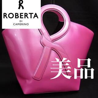 ロベルタディカメリーノ(ROBERTA DI CAMERINO)の■極美品■ ロベルタディカメリーノ レザーハンドバッグ(ハンドバッグ)