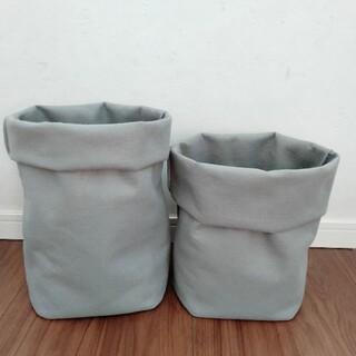フェルトプランター♡大きいサイズ♡グレー 2枚セット♡植木鉢 プランター(プランター)