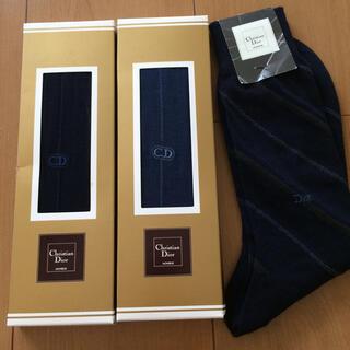 クリスチャンディオール(Christian Dior)の未使用 ディオール 靴下 3足 25センチ 【Dior 】秋 冬物(ソックス)