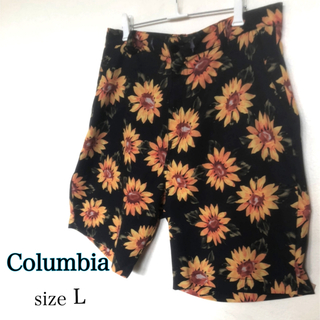 Columbia - Columbia ショートパンツLサイズ ひまわり柄