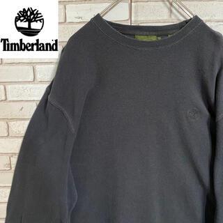 ティンバーランド(Timberland)の90s 古着 ティンバーランド L 刺繍ロゴ ビッグシルエット ゆるだぼ(Tシャツ/カットソー(七分/長袖))