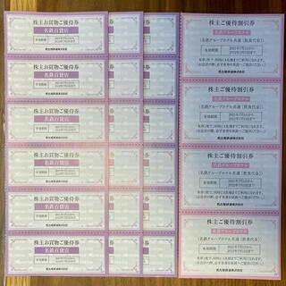 名鉄株主優待 名鉄百貨店割引券18枚+名鉄グループホテル飲食割引券4枚名古屋鉄道(ショッピング)