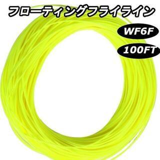 フライフィッシング フローティング フライライン イエロー WF6F(釣り糸/ライン)