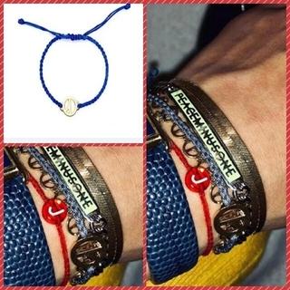 ピースマイナスワン(PEACEMINUSONE)の🌼BIGBANG G-DRAGON 青ひも ブレスレット 🌼ジヨン 青紐(ブレスレット)