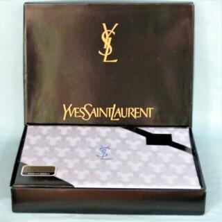 サンローラン(Saint Laurent)のイブサンローラン 高級ジャガード織シーツ 綿100% シングル~セミダブル 1枚(シーツ/カバー)