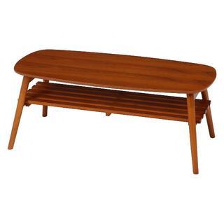 折れ脚センターテーブル 幅100cm ブラウン (ローテーブル)