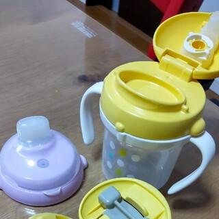 コンビ(combi)のcombi テテオ ストローマグセット スパウト コップ飲み コップトレーニング(水筒)