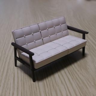 カリモクカグ(カリモク家具)のカリモク60ミニチュア Kチェア2シーター スタンダードアイボリー(その他)