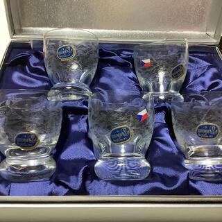 ボヘミア クリスタル(BOHEMIA Cristal)のBOHEMIA GLASS ショットグラス 5客 冷酒(グラス/カップ)