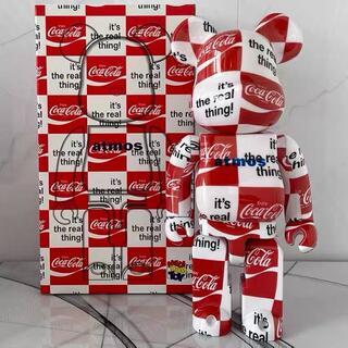 メディコムトイ(MEDICOM TOY)のBE@RBRICK atmos x Coca-Cola CLEAR RED(模型/プラモデル)