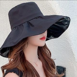 新品 帽子 女優帽 レディース キャペリン ブラック つば広帽子 ガーデンハット(ハット)