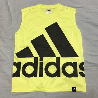 adidas - adidas climalite タンクトップ 黄 黒ロゴ 160サイズ