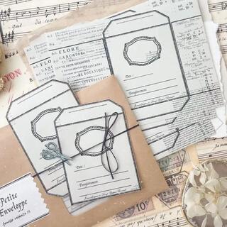 数量限定 海外アンティークタグ 紙もの 5枚 (white)(印刷物)