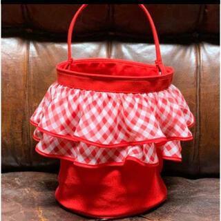 ドゥロワー(Drawer)のsetsuko sagittaireセツコサジテールピクニック赤ギンガムチェック(ハンドバッグ)