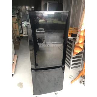 ミツビシデンキ(三菱電機)の【直接引取送料無料】三菱 2ドア冷蔵庫 MR-P15C-B  2017年製(冷蔵庫)