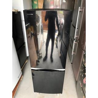 東芝 - 【直接引取送料無料】東芝 2ドア冷蔵庫 GR-M15BS(K)  2018年製