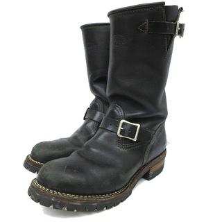 ウエスコ(Wesco)のウエスコ エンジニアブーツ BOSS カスタム レザーライニング26.5cm 黒(ブーツ)