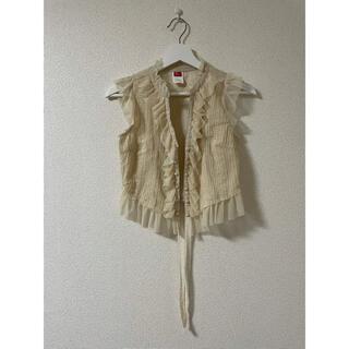 ダブルスタンダードクロージング(DOUBLE STANDARD CLOTHING)の「ダブルスタンダード」フリルレースジレ(ベスト/ジレ)