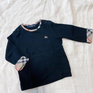 バーバリー(BURBERRY)のBurberry ロゴ ブラック ロンT ベビー服(Tシャツ)