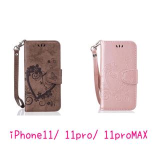 iPhone11 pro 手帳型 ケース puレザー(iPhoneケース)