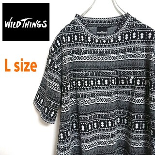 ワイルドシングス(WILDTHINGS)のWILDTHINGS ワイルドシングス ビッグサイズ  半袖 コットンニット(ニット/セーター)