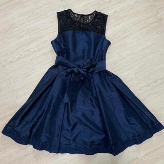 アクシーズファム(axes femme)の【axes】ネイビー ワンピース ドレス(ミディアムドレス)