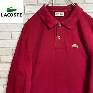 ラコステ(LACOSTE)の90s 古着 ラコステ スペイン製 XL 刺繍ロゴ ビッグシルエット ゆるだぼ(ポロシャツ)