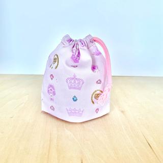 コップ袋 ピンク ジュエリー コップ巾着 女の子(外出用品)