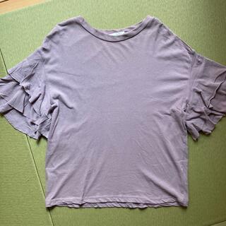 ケービーエフ(KBF)のKBF 袖フリルカットソー(カットソー(半袖/袖なし))