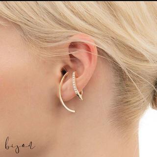 ロンハーマン(Ron Herman)のヒロタカCaviar Pearl Bow Ear Cuff  silver925(イヤーカフ)