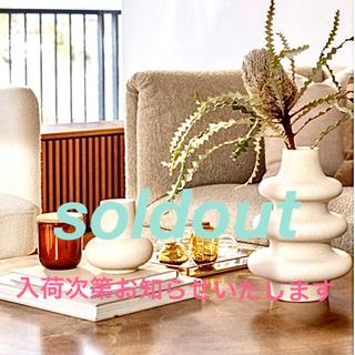 ザラホーム(ZARA HOME)のクリアガラス フラワーベース ミニ 新品未使用 H&M(置物)