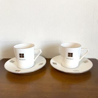 サンローラン(Saint Laurent)のYSLコーヒーカップアンドソーサー(グラス/カップ)