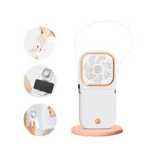携帯扇風機 ハンディファン 手持ち 首掛け 扇風機 ミニ 熱中症グッズ卓上扇風機(扇風機)