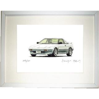 NC-558 トヨタMR2 1600限定版画サイン額装作家平右ヱ門(版画)