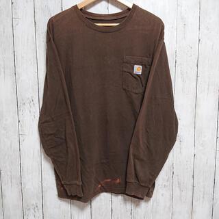 カーハート(carhartt)のcarhartt カーハート ロングTシャツ L ワンポイントロゴ ビックサイズ(Tシャツ/カットソー(七分/長袖))
