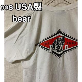 ベアー(Bear USA)の【希少】USA製 bear ヴィンテージTシャツ バックビッグプリント(Tシャツ/カットソー(半袖/袖なし))