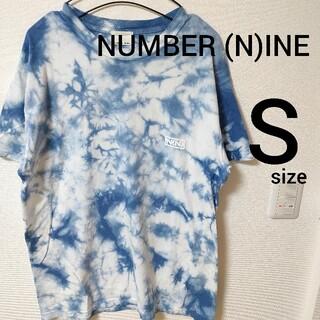 ナンバーナイン(NUMBER (N)INE)のナンバーナイン タイダイ柄 青×白 半袖Tシャツ カットソー メンズ size1(Tシャツ/カットソー(半袖/袖なし))