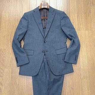 THE SUIT COMPANY - P.S.F.A ミディアムグレー ソリッド(無地)スーツ A5(M程度)