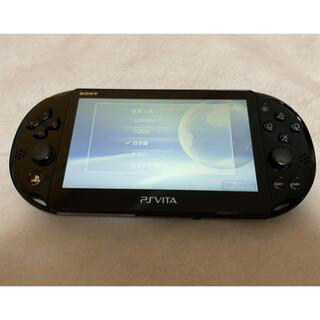 プレイステーションヴィータ(PlayStation Vita)の☆美品☆ PSVita PCH-2000 ZA11 SONY ブラック 本体 (家庭用ゲーム機本体)