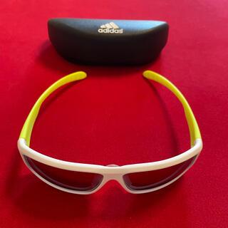 adidas アディダス サングラス アイウェア  マットホワイト/イエロー L(サングラス/メガネ)
