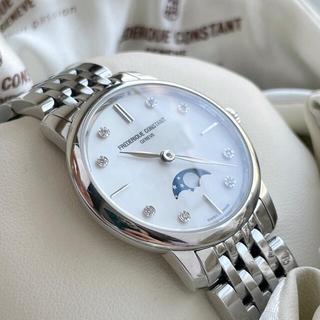 フレデリックコンスタント(FREDERIQUE CONSTANT)のフレデリックコンスタント  スリム ムーンフェイズ レディース  稼働 美品(腕時計)