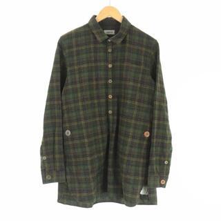 アンダーカバー(UNDERCOVER)のアンダーカバー 2013年製 ネルシャツ 長袖 チェック 2 M 緑 黒(シャツ)