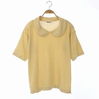 クロエ(Chloe)のクロエ ニット セーター サマー 半袖 ラウンドカラー コットン 40 クリーム(ニット/セーター)