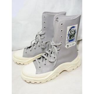 ラフシモンズ(RAF SIMONS)のラフシモンズアディダスDetroitデトロイトハイカット10ホールスニーカー靴(スニーカー)