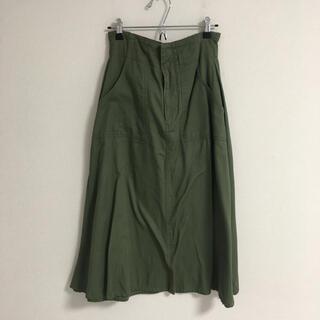 アベイル(Avail)のアベイル カーキ スカート L(ひざ丈スカート)